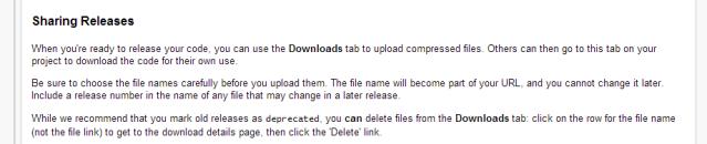 google code release sharing