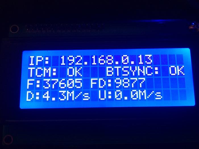 BtSync LCD Display
